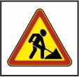 Знак 1.25 Дорожные работы (желтый фон)